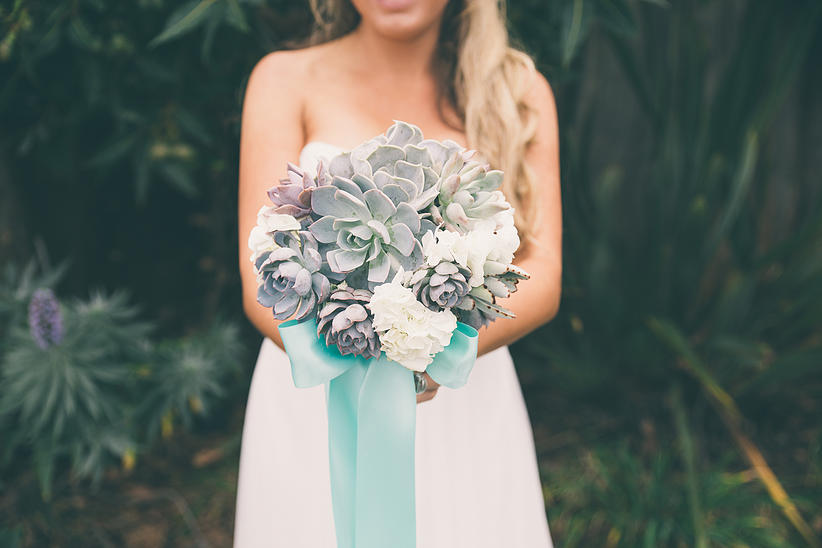 Succulents With Flowers Wedding Centerpieces